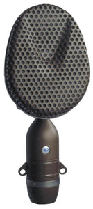Coles 4038 Ribbon Microphone in black front view photo.