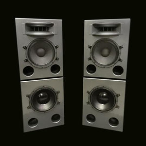 Grey Augspurger Solo-12 MF Speaker system.