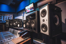 Load image into Gallery viewer, White Augspurger Treo 812 Speaker system in music studio.