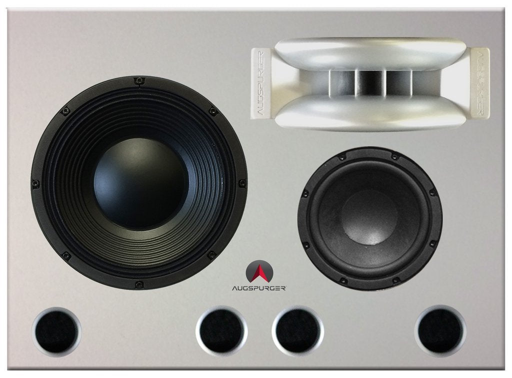 White Augspurger Treo 812 Speaker close-up.