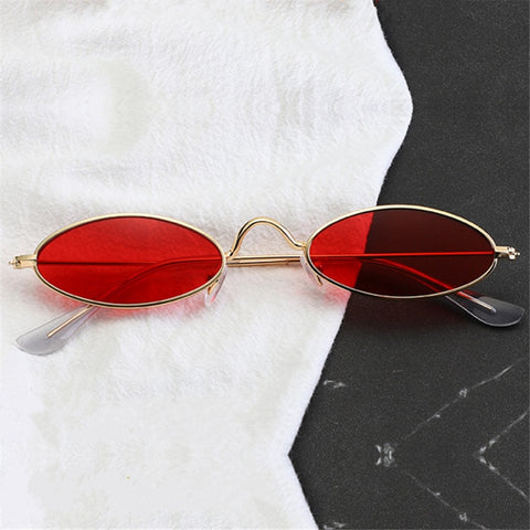 FASHION RED OVAL SUNGLASSES