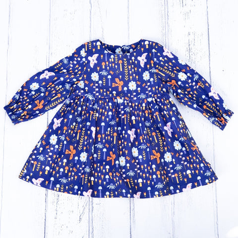 Blue Scandi Smock Dress