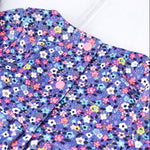 Purple Floral Smock Dress (Pinwale Cord)