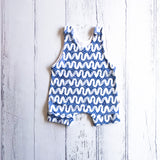 *NEW* Blue waves Summer Harem Romper