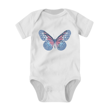 Load image into Gallery viewer, NAT & LIV Anti-Social Butterfly BABY ONESIE WHITE