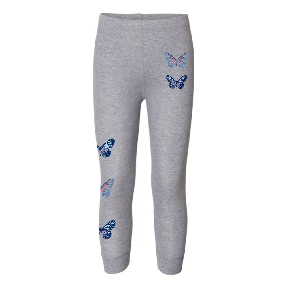 NAT & LIV Anti-Social Butterfly Kids Leggings DARK ASH