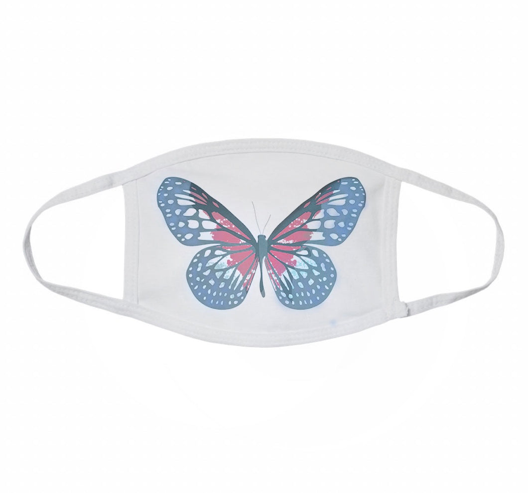 NAT & LIV Anti-Social Butterfly Mask WHITE