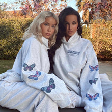 Load image into Gallery viewer, NAT & LIV Anti-Social Butterfly Hoodie ASH