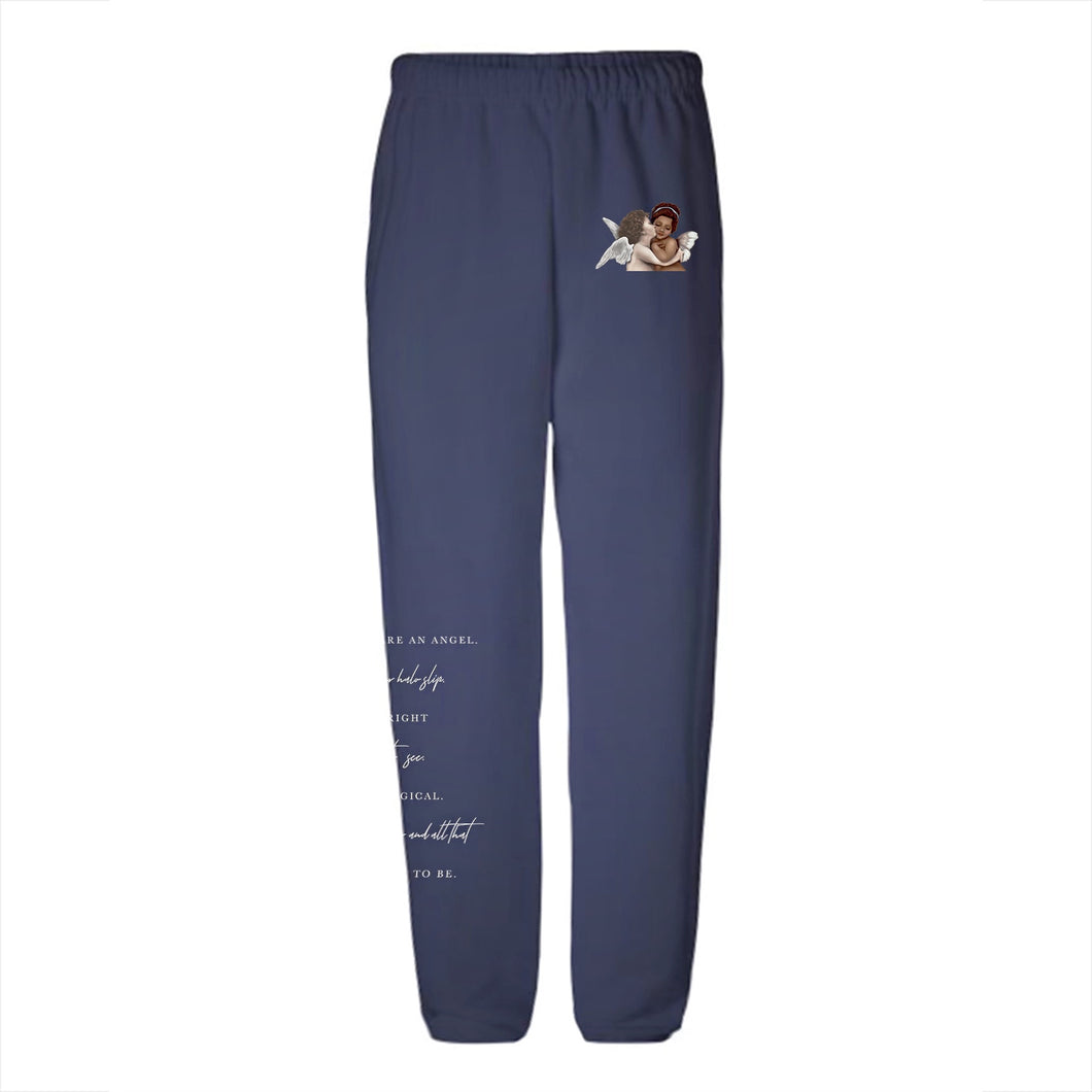 NAT & LIV Cherubs Sweatpants - NAVY