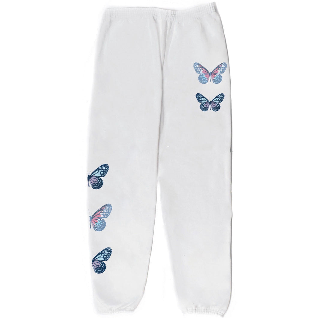 NAT & LIV Anti-Social Butterfly Pant WHITE