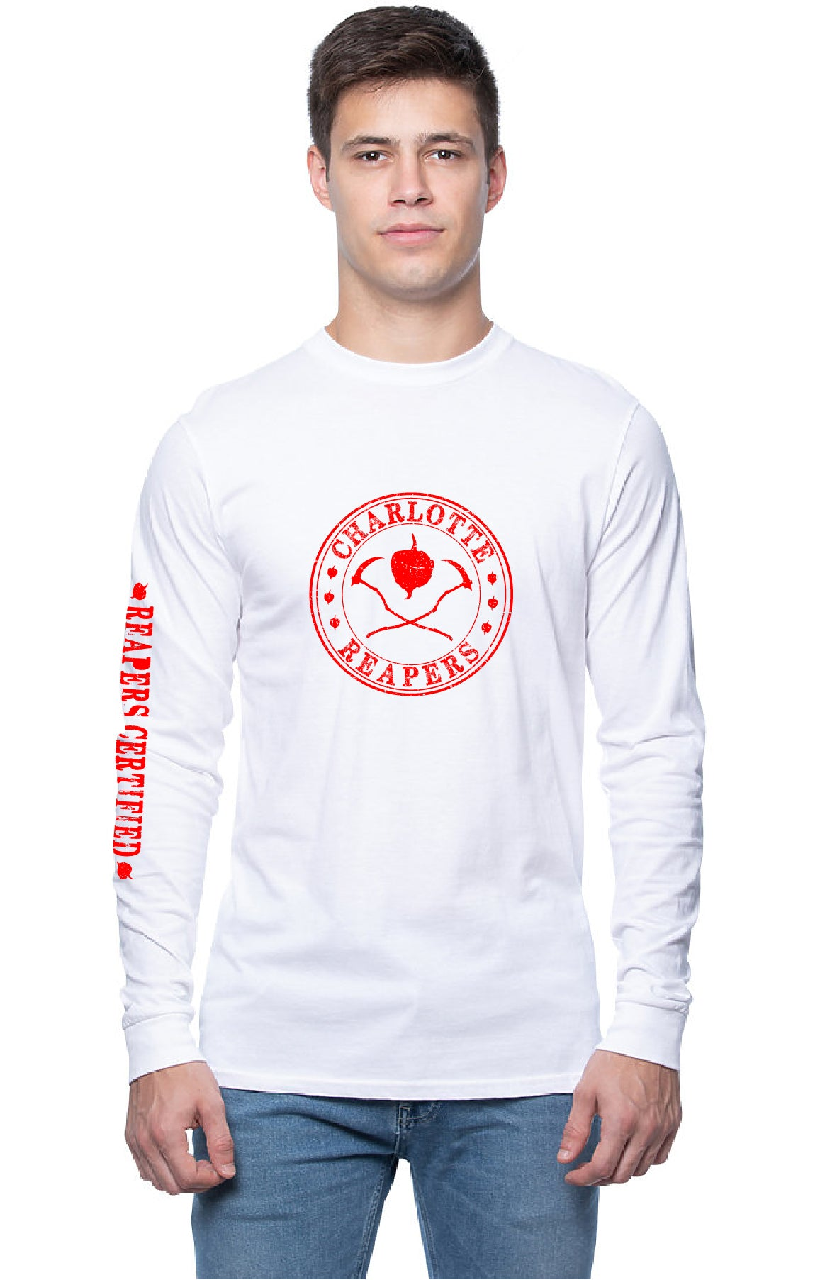 "T's - Long Sleeve Unisex - ""Charlotte Reapers"" design - 100% Cotton"