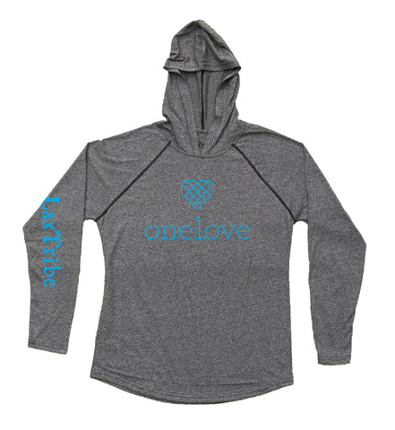 "Light Hoodie - ""One Love"" design with LaxTribe"