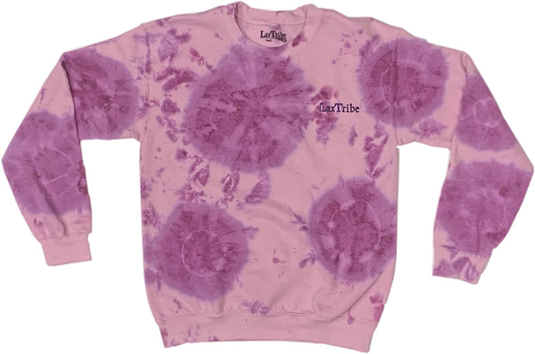Pink with Purple Tie-Dye Crewneck