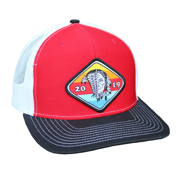 "Hat - Richardson's R112 ""Sunset"" Patch Mesh Trucker"