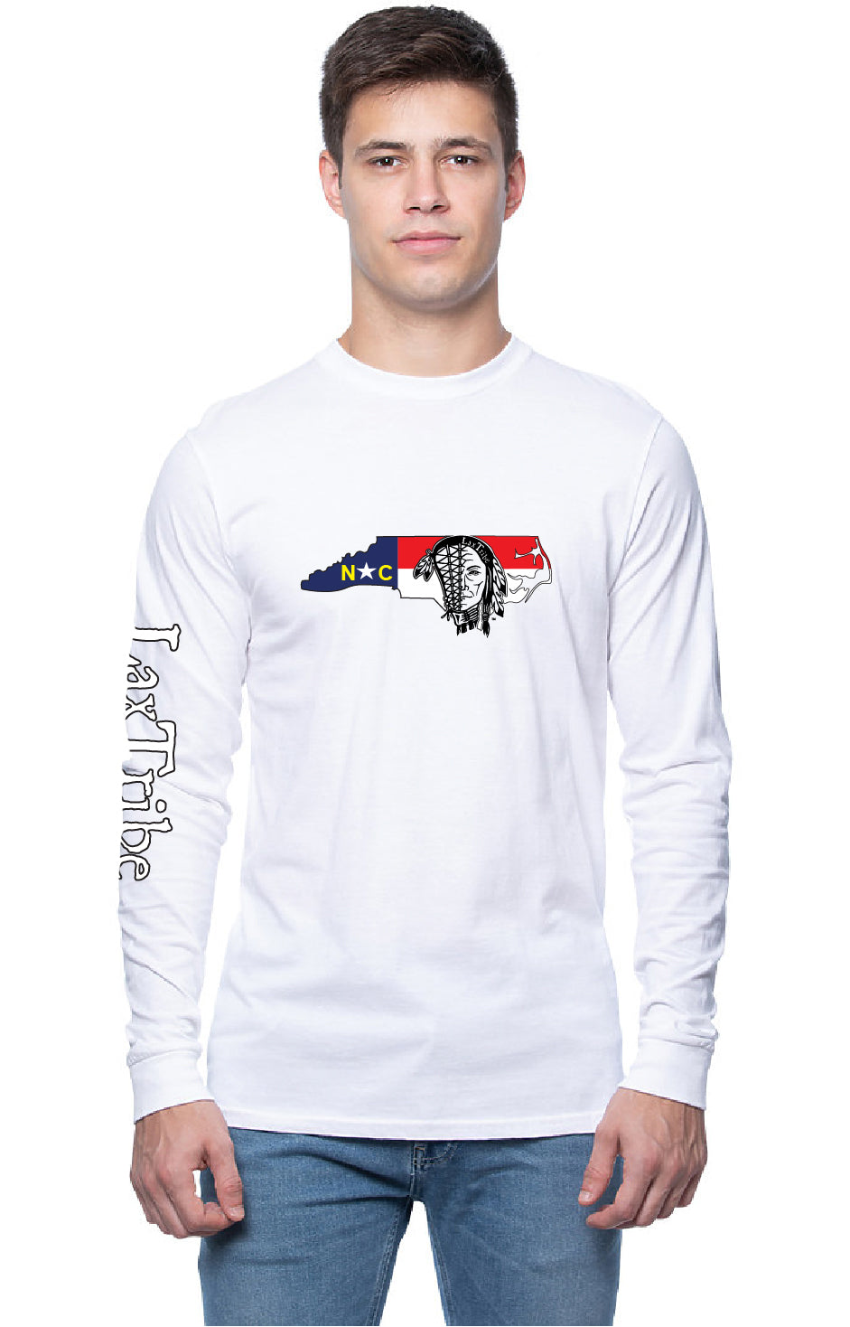 "T's - Long Sleeve Unisex - ""North Carolina"" design - 100% Cotton - Made in USA"