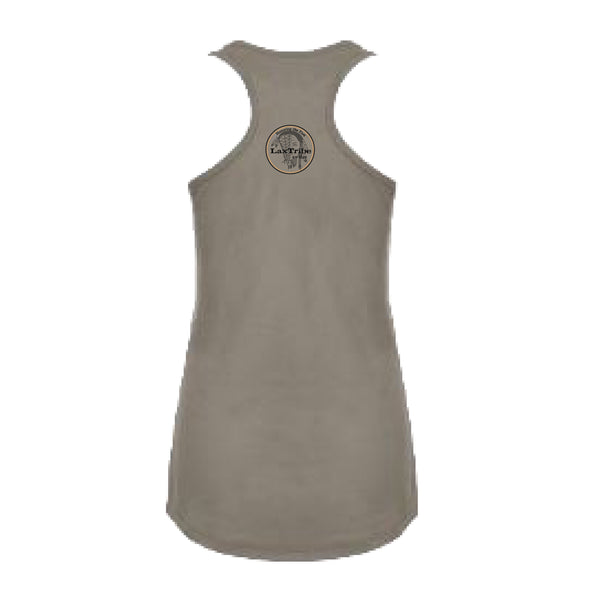 Tank - Ladies Racerback Tank Top - SMALL TEXT
