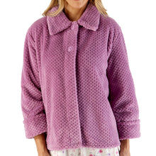 Load image into Gallery viewer, http://images.esellerpro.com/2278/I/183/394/BJ4325-slenderella-ladies-waffle-bed-jacket-heather.jpg