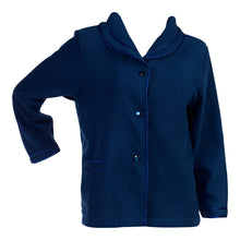 Load image into Gallery viewer, http://images.esellerpro.com/2278/I/133/606/BJ6320-slenderella-ladies-anti-pill-polar-fleece-bed-jacket-blue.jpg