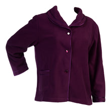 Load image into Gallery viewer, http://images.esellerpro.com/2278/I/133/606/BJ6320-slenderella-ladies-anti-pill-polar-fleece-bed-jacket-purple.jpg