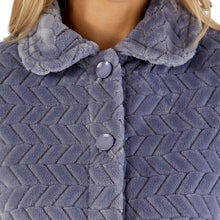 Load image into Gallery viewer, http://images.esellerpro.com/2278/I/197/807/BJ66315-slenderella-chevron-pattern-bed-jacket-grey-close-up-1.jpg