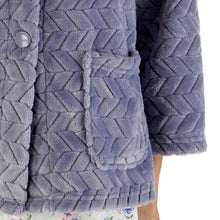 Load image into Gallery viewer, http://images.esellerpro.com/2278/I/197/807/BJ66315-slenderella-chevron-pattern-bed-jacket-grey-close-up-2.jpg