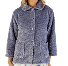 Load image into Gallery viewer, http://images.esellerpro.com/2278/I/197/807/BJ66315-slenderella-chevron-pattern-bed-jacket-grey.jpg
