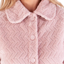 Load image into Gallery viewer, http://images.esellerpro.com/2278/I/197/807/BJ66315-slenderella-chevron-pattern-bed-jacket-pink-close-up-1.jpg