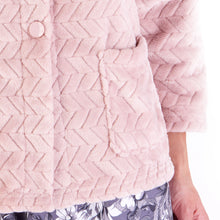 Load image into Gallery viewer, http://images.esellerpro.com/2278/I/197/807/BJ66315-slenderella-chevron-pattern-bed-jacket-pink-close-up-2.jpg