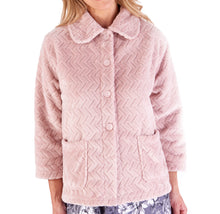 Load image into Gallery viewer, http://images.esellerpro.com/2278/I/197/807/BJ66315-slenderella-chevron-pattern-bed-jacket-pink.jpg