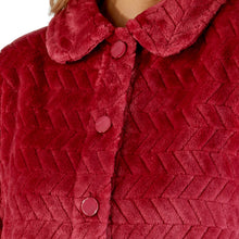 Load image into Gallery viewer, http://images.esellerpro.com/2278/I/197/807/BJ66315-slenderella-chevron-pattern-bed-jacket-raspberry-close-up-1.jpg