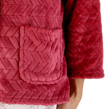Load image into Gallery viewer, http://images.esellerpro.com/2278/I/197/807/BJ66315-slenderella-chevron-pattern-bed-jacket-raspberry-close-up-2.jpg