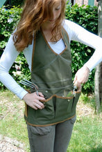 Load image into Gallery viewer, http://images.esellerpro.com/2278/I/143/802/GT49-khaki-green-lady-garden-apron-pockets-adjustable-2.JPG