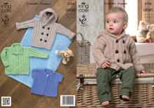 Load image into Gallery viewer, http://images.esellerpro.com/2278/I/981/01/KC3724-girls-boys-baby-hooded-coat-jacket-lacy-cardigan-knitting-pattern.jpg