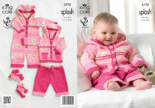Load image into Gallery viewer, http://images.esellerpro.com/2278/I/982/25/KC3770-baby-set-coat-trousers-all-in-one-socks-knitting-pattern.jpg