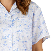 Load image into Gallery viewer, http://images.esellerpro.com/2278/I/177/563/PJ3208-slenderella-ladies-womens-floral-cotton-pyjamas-blue-close-up-1.jpg