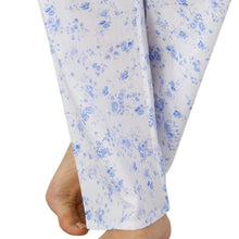 Load image into Gallery viewer, http://images.esellerpro.com/2278/I/177/563/PJ3208-slenderella-ladies-womens-floral-cotton-pyjamas-blue-close-up-2.jpg