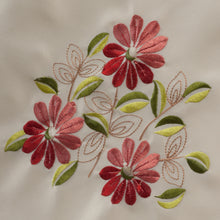Load image into Gallery viewer, http://images.esellerpro.com/2278/I/123/928/daisy-floral-single-chairback-antimacassar-cream-pink-red-flower-close-up-1.jpg