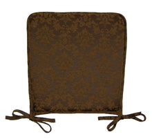Load image into Gallery viewer, http://images.esellerpro.com/2278/I/175/215/damask-seat-pad-chair-cushion-chocolate-brown.JPG