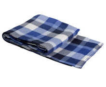 Load image into Gallery viewer, http://images.esellerpro.com/2278/I/750/07/fleece-check-checked-blanket-blue.jpg