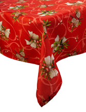 Load image into Gallery viewer, http://images.esellerpro.com/2278/I/133/744/holly-bow-christmas-xmas-festive-table-cloth-tablecloth-linen.jpg