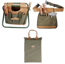 Load image into Gallery viewer, http://images.esellerpro.com/2278/I/146/372/khaki-green-brown-gardening-set-tool-stool-tool-belt-kneeling-pad-new.jpg
