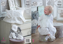 Load image into Gallery viewer, http://images.esellerpro.com/2278/I/142/569/king-cole-4ply-baby-knitting-pattern-matinee-coat-bonnet-bootees-mittens-4944.jpg