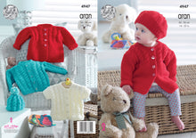 Load image into Gallery viewer, http://images.esellerpro.com/2278/I/145/930/king-cole-baby-aran-knitting-pattern-jackets-cardigan-hat-4947.jpg