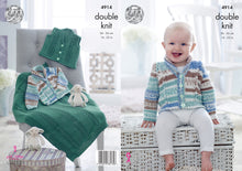 Load image into Gallery viewer, http://images.esellerpro.com/2278/I/140/073/king-cole-baby-double-knitting-pattern-jacket-waistcoat-blanket-4914.jpg