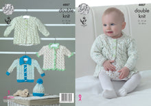 Load image into Gallery viewer, http://images.esellerpro.com/2278/I/140/052/king-cole-baby-double-knitting-pattern-matinee-coat-cardigans-hat-4887.jpg