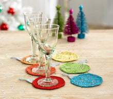 Load image into Gallery viewer, http://images.esellerpro.com/2278/I/130/153/king-cole-christmas-crochet-book-2-bauble-coasters.jpg