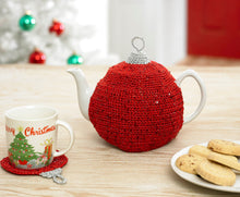 Load image into Gallery viewer, http://images.esellerpro.com/2278/I/130/153/king-cole-christmas-crochet-book-2-bauble-tea-cosy.jpg