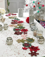 Load image into Gallery viewer, http://images.esellerpro.com/2278/I/130/153/king-cole-christmas-crochet-book-2-snowflake-table-runner.jpg