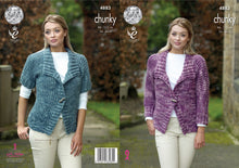 Load image into Gallery viewer, http://images.esellerpro.com/2278/I/142/338/king-cole-chunky-knitting-pattern-ladies-womens-jackets-4883.jpg
