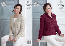 Load image into Gallery viewer, http://images.esellerpro.com/2278/I/145/996/king-cole-chunky-knitting-pattern-ladies-womens-sweaters-5014.jpg